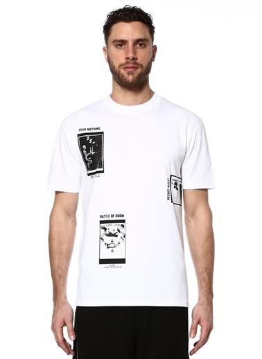 McQ Alexander McQueen Baskılı Tişört Beyaz